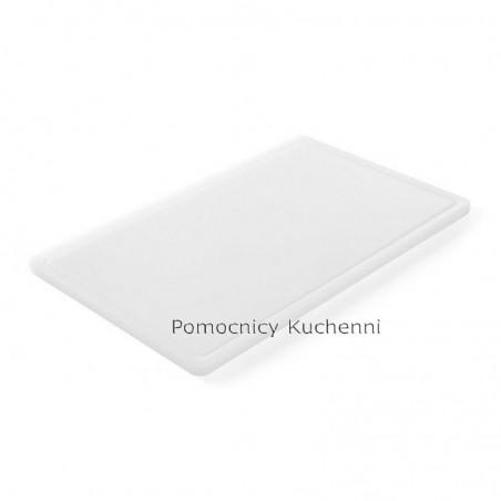 Deska do krojenia 53x32,5x1,5 cm biała HACCP GN 1/1 HENDI 826003