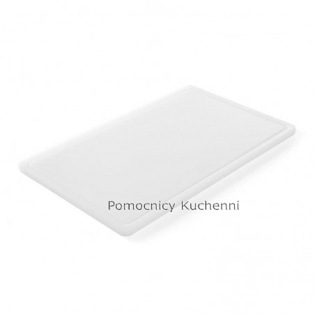 Gruba deska do krojenia biała 53 x 32,5 h 1,5 cm HACCP GN 1/1 HENDI 826003