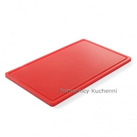 Deska do krojenia 53x32,5x1,5 cm czerwona HACCP GN 1/1 HENDI 826010