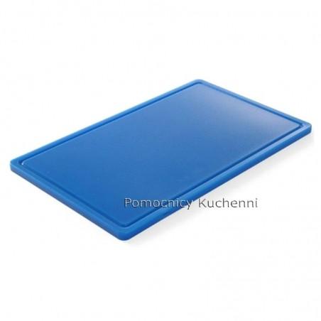 Deska do krojenia 53x32,5x1,5 cm niebieska HACCP GN 1/1 HENDI 826027