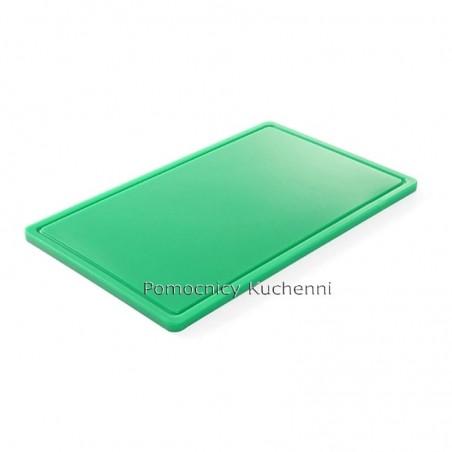 Deska do krojenia 53x32,5x1,5 cm zielona HACCP GN 1/1 HENDI 826034