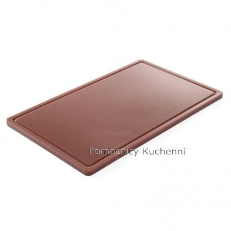 Gruba deska do krojenia brązowa 53 x 32,5 h 1,5 cm HACCP GN 1/1 HENDI 826041