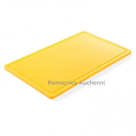 Gruba deska do krojenia żółta 53 x 32,5 h 1,5 cm HACCP GN 1/1 HENDI 826058
