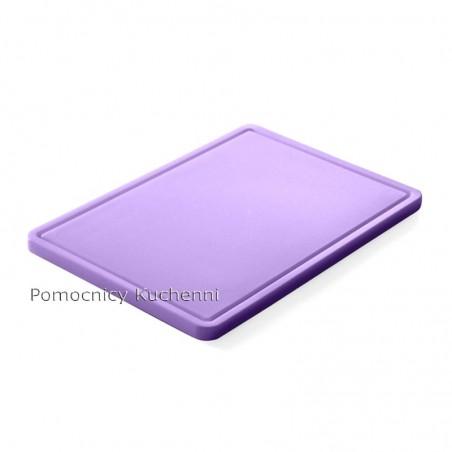 Gruba deska do krojenia fioletowa dla alergików 53 x 32,5 h 1,5 cm HACCP GN 1/1 HENDI 826065