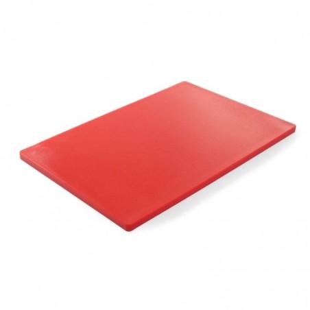 Gruba deska do krojenia czerwona 60 x 40 h 1,8 cm HACCP - HENDI 825617