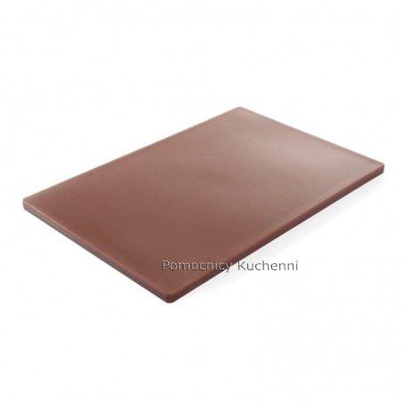 Deska do krojenia 60x40x1,8 cm brązowa HACCP - HENDI 825648