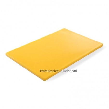 Gruba deska do krojenia żółta 60 x 40 h 1,8 cm HACCP - HENDI 825655