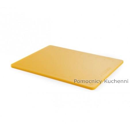 Deska do krojenia 50x38x1,2 cm żółta z podziałką HACCP HENDI 826454