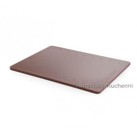 Deska do krojenia 50x38x1,2 cm brązowa z podziałką HACCP HENDI 826447