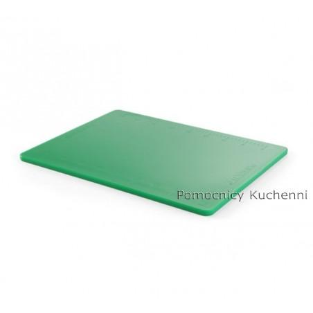 Gruba deska do krojenia zielona, do warzyw z podziałką 50x38 h 1,2cm HACCP HENDI 826430