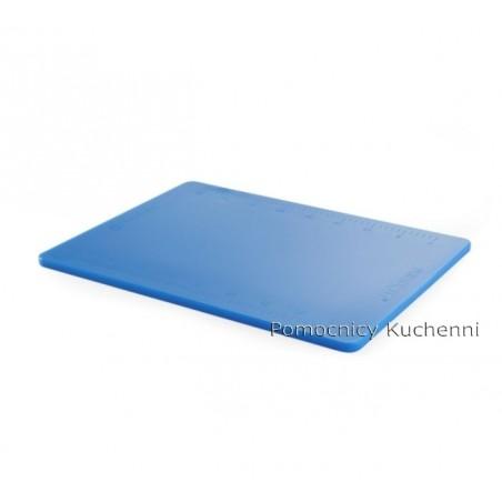Deska do krojenia 50x38x1,2 cm niebieska z podziałką HACCP HENDI 826423