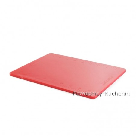 Gruba deska do krojenia czerwona, do mięs surowych z podziałką 50x38 h 1,2cm HACCP HENDI 826416