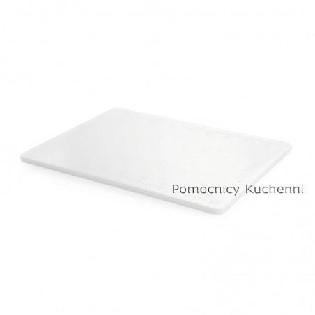 Deska do krojenia 50x38x1,2 cm biała z podziałką HACCP HENDI 826409