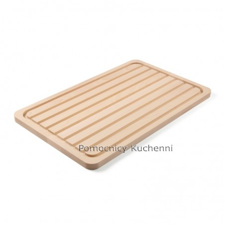 Deska kuchenna drewniana 53x32,5x1,8 cm dwustronna HENDI 505403