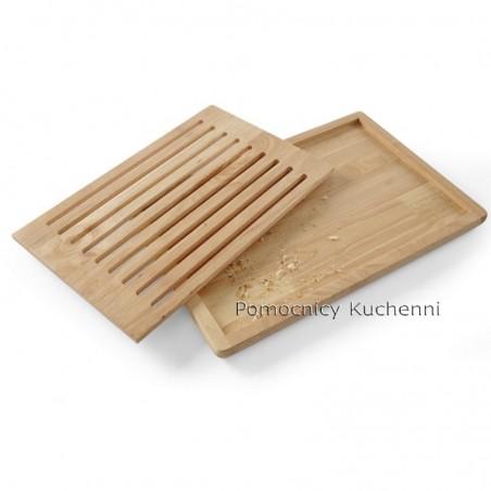 Deska kuchenna drewniana 47,5x32,2x2,5 cm wyjmowana kratka HENDI 505502