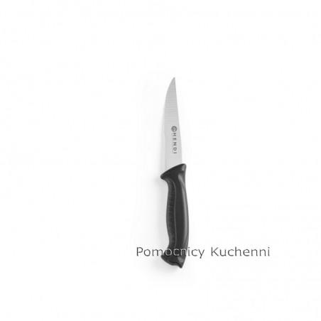 Nóż HACCP w kolorze czarnym - standard. Nóż uniwersalny 10cm HENDI 842102