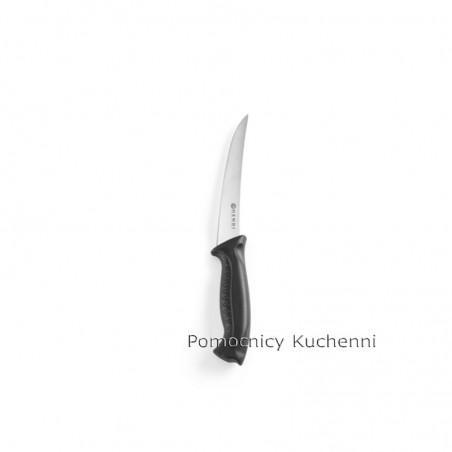 Nóż HACCP w kolorze czarnym - standard. Nóż do filetowania 14cm HENDI 844434