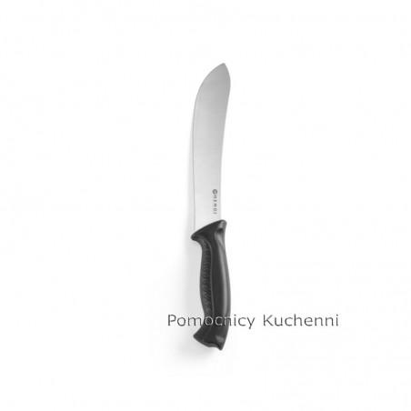Nóż HACCP w kolorze czarnym - standard. Nóż do rzeźniczy 20cm HENDI 844427