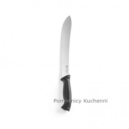Nóż HACCP w kolorze czarnym - standard. Nóż do rzeźniczy 25cm HENDI 844410