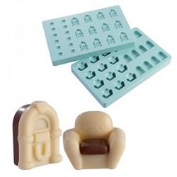 2 formy do pralin - fotel i...