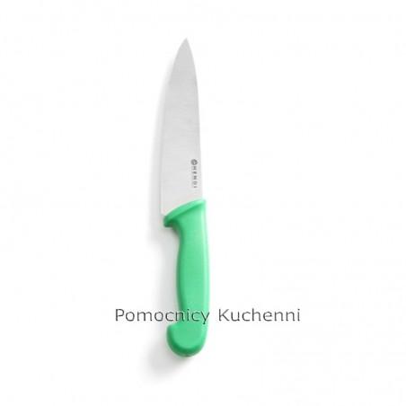 Nóż do warzyw i owoców. Nóż kucharski 18cm HACCP zielony HENDI 842614