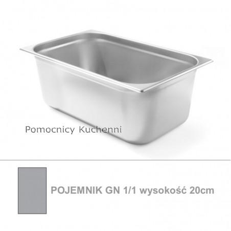 Pojemnik GN 1/1 poj. 28l - 53x32,5cm wys. 20cm BUDGET LINE HENDI 800157