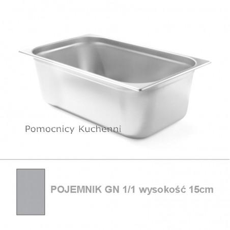 Pojemnik GN 1/1 poj. 21l - 53x32,5cm wys. 15cm BUDGET LINE HENDI 800140