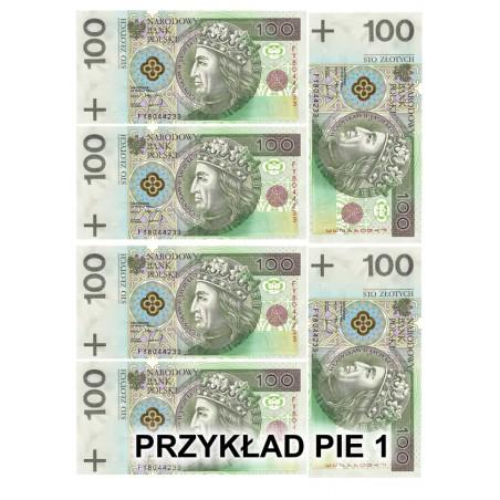 Wydruk jadalny banknoty - pieniadze