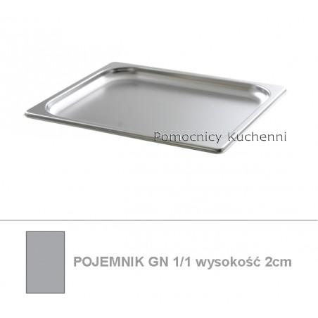 Pojemnik GN 1/1 poj. 2,5l - 53x32,5cm wys. 2cm BUDGET LINE HENDI 800102
