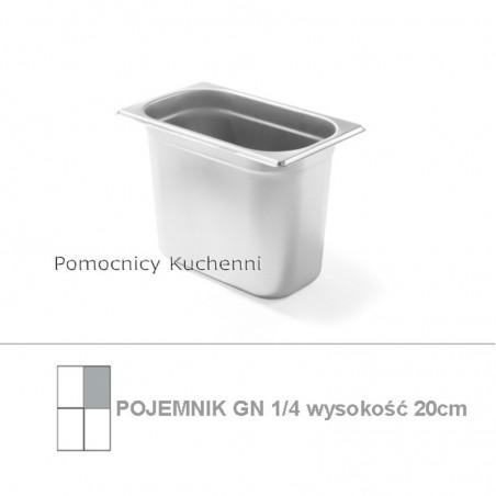 Pojemnik GN 1/4 poj. 5,5l - 26,5x16,2cm wys. 20cm BUDGET LINE HENDI 800553