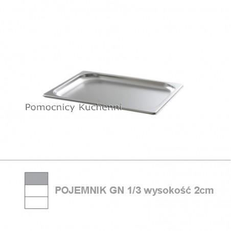 Pojemnik GN 1/3 poj. 0,6l - 32,5x17,6cm wys. 2cm BUDGET LINE HENDI 800409