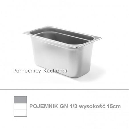Pojemnik GN 1/3 poj. 5,7l - 32,5x17,6cm wys. 15cm BUDGET LINE HENDI 800447