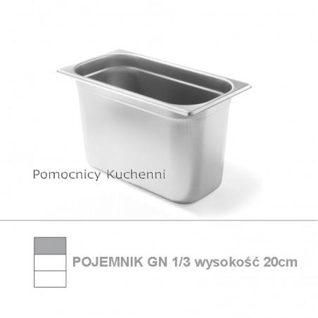 Pojemnik GN 1/3 poj. 7,8l - 32,5x17,6cm wys. 20cm BUDGET LINE HENDI 800454