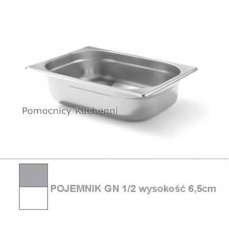 Pojemnik GN 1/2 poj. 4l - 32,5x26,5cm wys. 6,5cm BUDGET LINE HENDI 800324