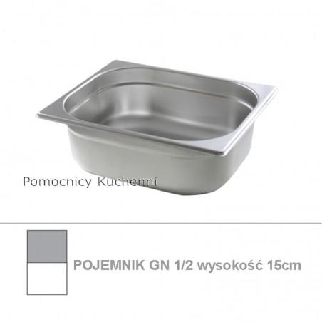 Pojemnik GN 1/2 poj. 9,5l - 32,5x26,5cm wys. 15cm BUDGET LINE HENDI 800348