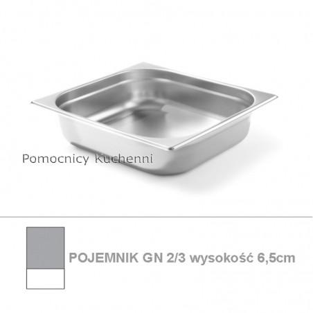 Pojemnik GN 2/3 poj. 5,5l - 35,4x32,5cm wys. 6,5cm BUDGET LINE HENDI 800225
