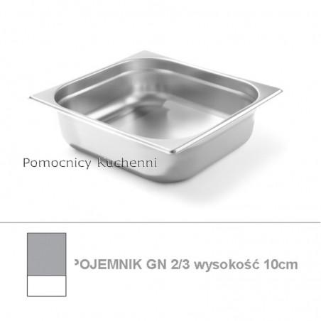 Pojemnik GN 2/3 poj. 9l - 35,4x32,5cm wys. 10cm BUDGET LINE HENDI 800232