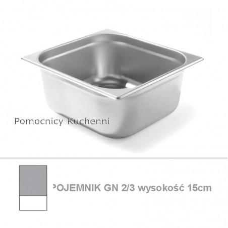 Pojemnik GN 2/3 poj. 13l - 35,4x32,5cm wys. 15cm BUDGET LINE HENDI 800249