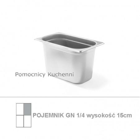 Pojemnik GN 1/4 poj. 4l - 26,5x16,2cm wys. 15cm BUDGET LINE HENDI 800546