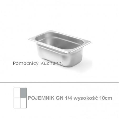 Pojemnik GN 1/4 poj. 2,8l - 26,5x16,2cm wys. 10cm BUDGET LINE HENDI 800539