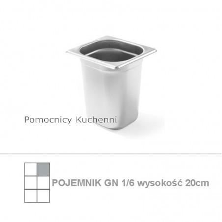 Pojemnik GN 1/6 poj. 3,4l - 17,6x16,2cm wys. 20cm BUDGET LINE HENDI 800652