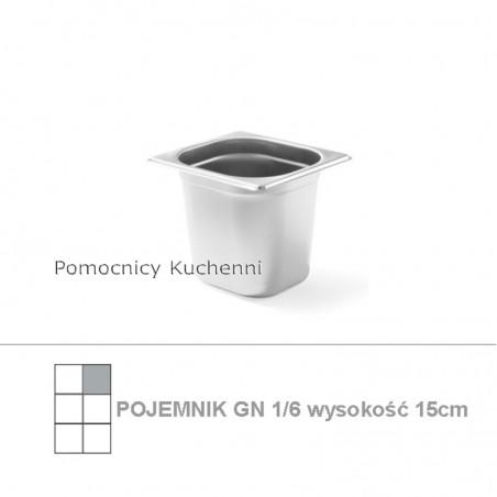 Pojemnik GN 1/6 poj. 2,4l - 17,6x16,2cm wys. 15cm BUDGET LINE HENDI 800645