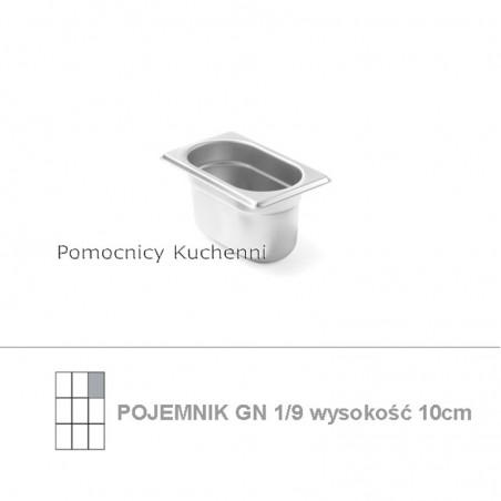 Pojemnik GN 1/9 poj. 1l - 17,6x10,8cm wys. 10cm BUDGET LINE HENDI 800737