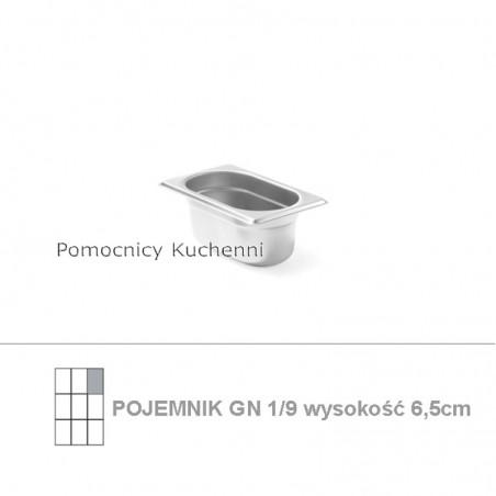 Pojemnik GN 1/9 poj. 0,6l - 17,6x10,8cm wys. 6,5cm BUDGET LINE HENDI 800720