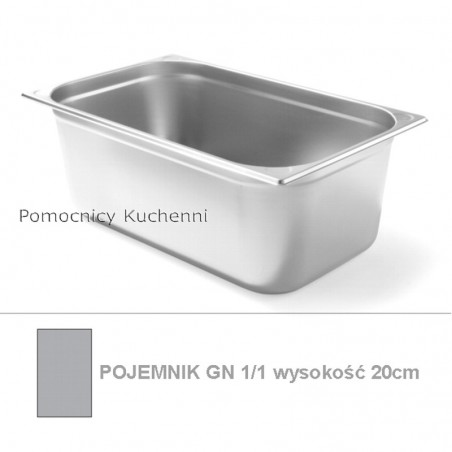 Pojemnik GN 1/1 poj. 26,4l - 53x32,5cm wys. 20cm, wzmocniony KITCHEN LINE HENDI 806159