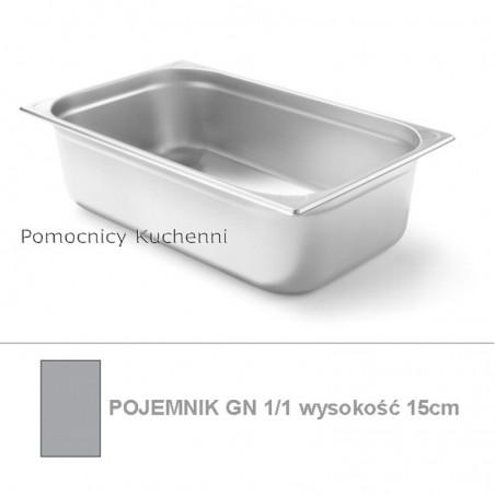 Pojemnik GN 1/1 poj. 19,8l - 53x32,5cm wys. 15cm, wzmocniony KITCHEN LINE HENDI 806142