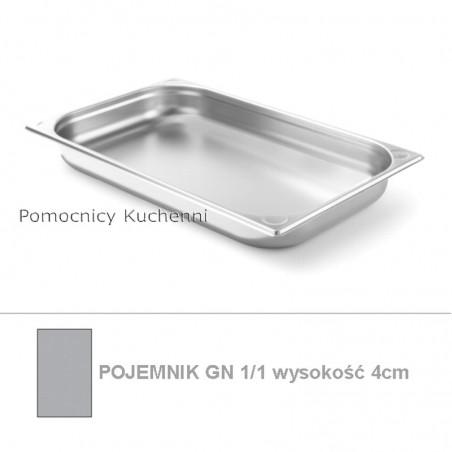 Pojemnik GN 1/1 poj. 5,3l - 53x32,5cm wys. 4cm, wzmocniony KITCHEN LINE HENDI 806111