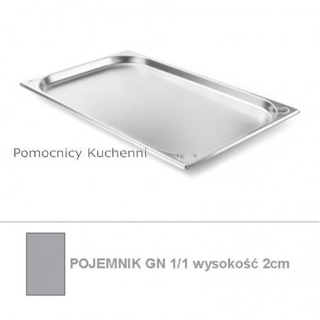 Pojemnik GN 1/1 poj. 2,6l - 53x32,5cm wys. 2cm, wzmocniony KITCHEN LINE HENDI 806104