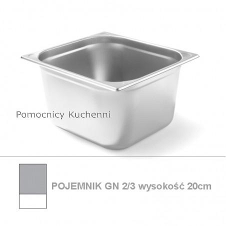 Pojemnik GN 2/3 poj. 15,5l - 35,4x32,5cm wys. 20cm, wzmocniony KITCHEN LINE HENDI 806258