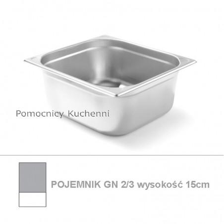 Pojemnik GN 2/3 poj. 11,6l - 35,4x32,5cm wys. 15cm, wzmocniony KITCHEN LINE HENDI 806241
